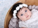 E is Beautiful at 10 weeks old: Bohemian-chic inspired session